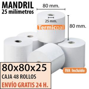 Papel térmico 80x80x25