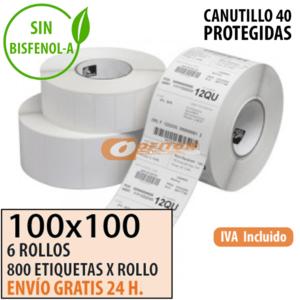 Etiquetas Térmicas 100x100
