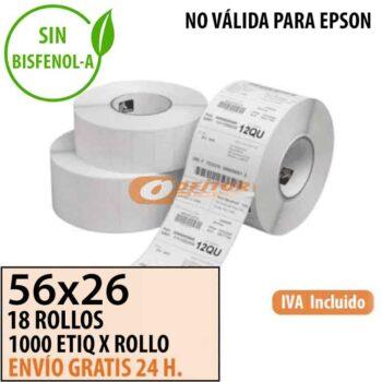Etiquetas Térmicas 56x26
