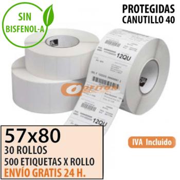 Etiquetas Térmicas 57x80 protegidas