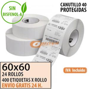 Etiquetas Térmicas 60x60 protegidas