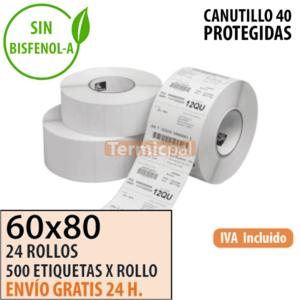 Etiquetas Térmicas 60x80 protegidas
