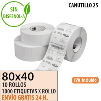 Etiquetas Térmicas 80x40