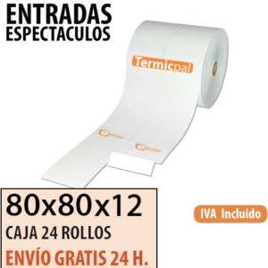 24 rollos papel termico entradas