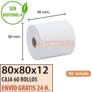 Papel térmico 80x80