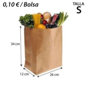 400 BOLSAS PAPEL KRAF SIN ASA 26+12X34