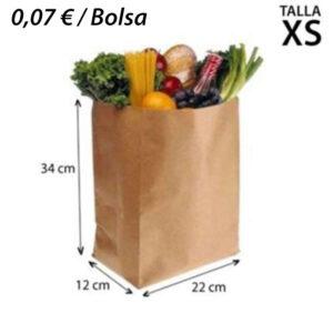 700 BOLSAS PAPEL KRAF SIN ASA 22+12X34