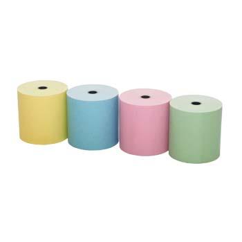 Rollos de papel térmico de colores