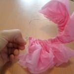 paso siete para hacer flor de papel pinocho