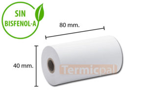 Papel térmico 80x40
