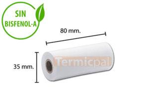 Papel térmico 80x35