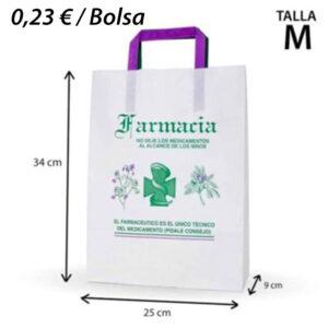 175 BOLSAS PAPEL FARMACIA 25+9X34