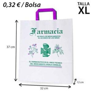 125 BOLSAS PAPEL FARMACIA 32+12X37