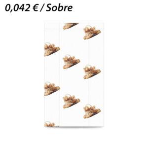 1000 SOBRES DE PAPEL 20+10X35 PANADERIA