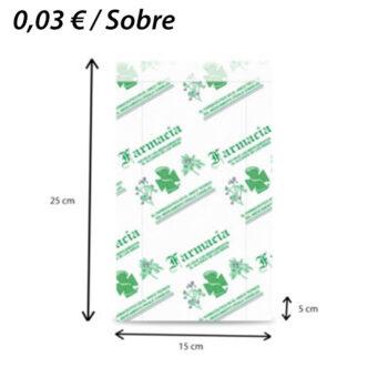 1000 SOBRES PAPEL FARMACIA 15+5X25
