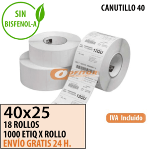 Etiquetas Térmicas 40x25